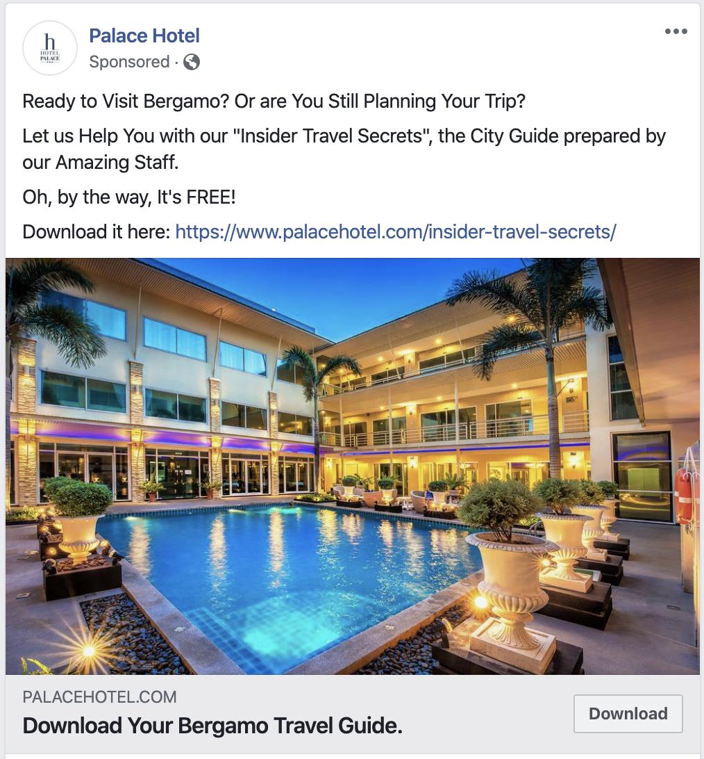 Facebook Ad Hotel Retargeting: Planning phase